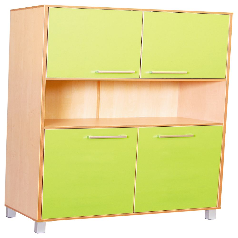 Premium high cabinet with doors - Green