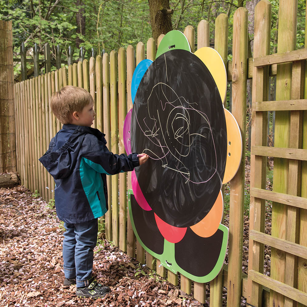 Giant Mark Making Chalkboard Daisy