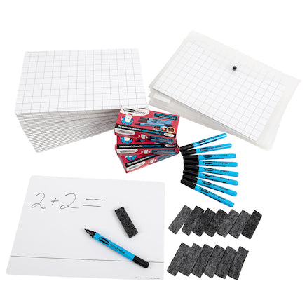Dry Wipe Double Sided Whiteboards 30pk