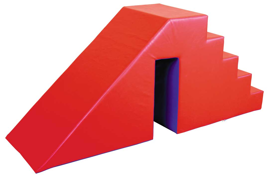 Steps with Slide Red