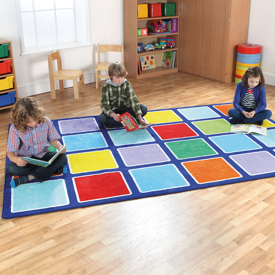 Rainbow Rectangle Placement Carpet