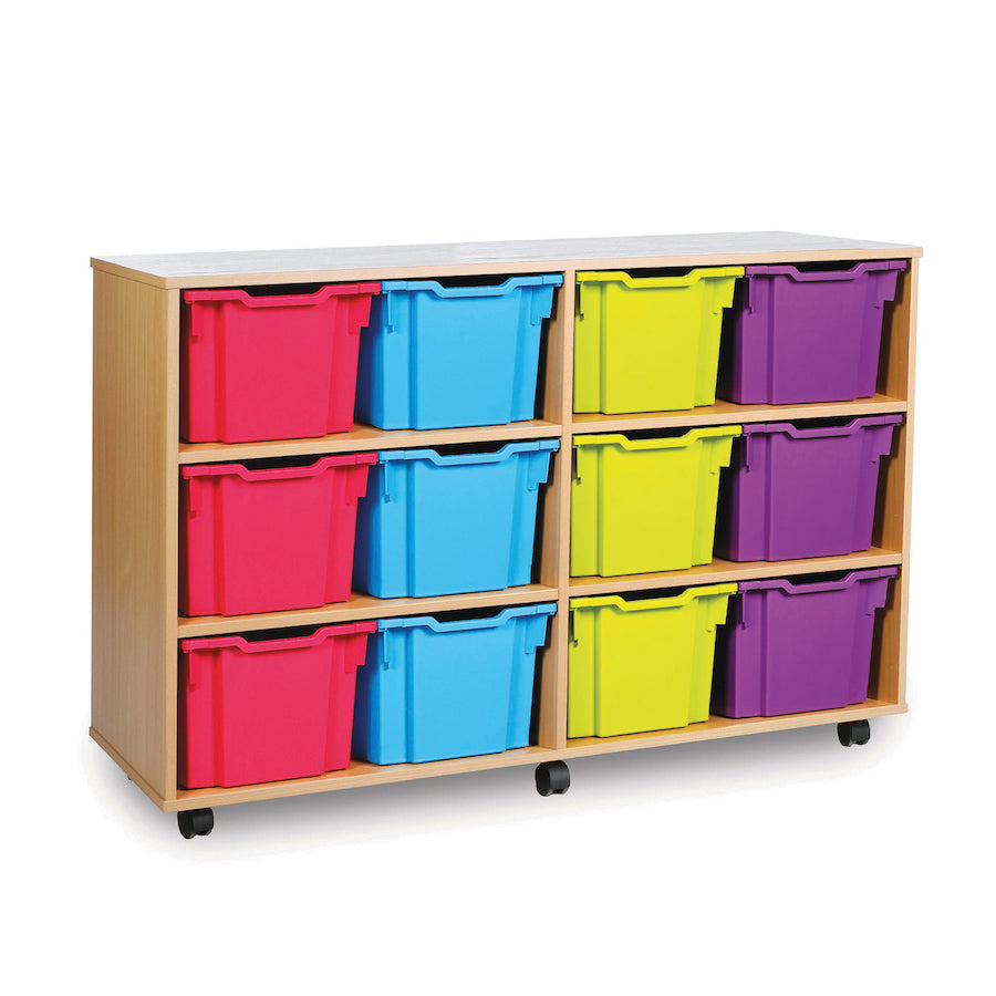 12 Extra Deep Tray Storage Units  for classroom storage