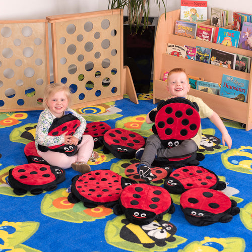 Back to Nature Square Bug Rug & Ladybird Cushions