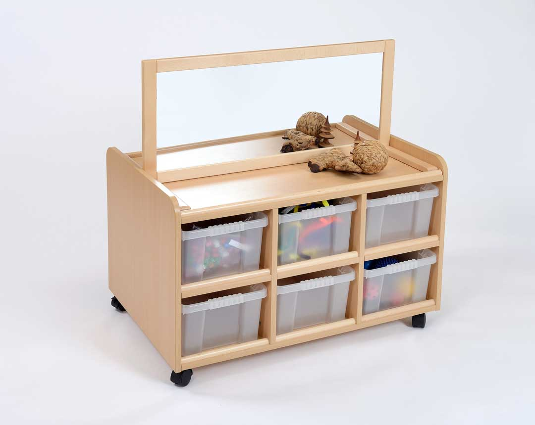 D/S Storage Unit, Mirror & Clear Trays