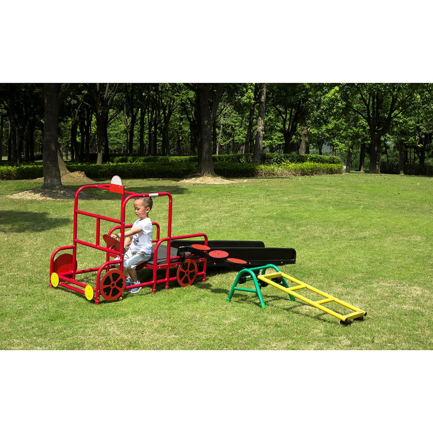 Play Gym Set 9 (Short Ladder – 300 Trestle – Magical Mushrooms – Fire Station – Slide)