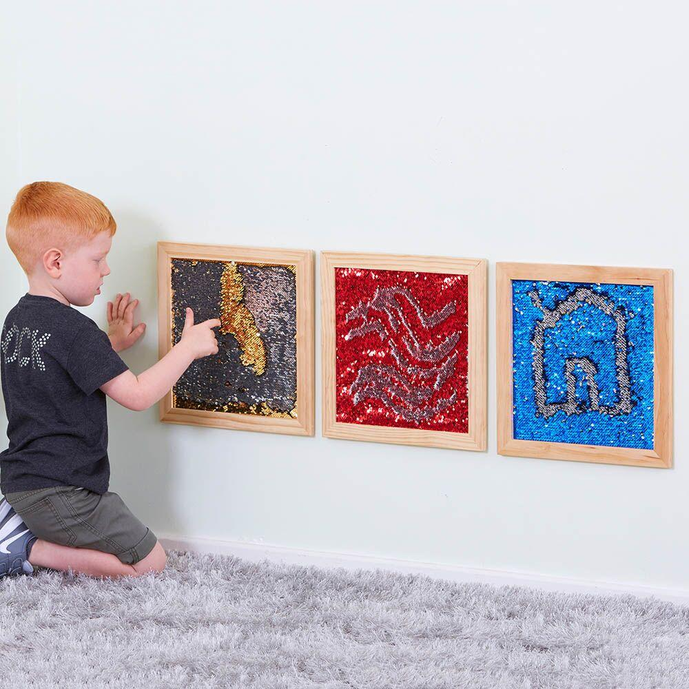 Mermaid Sequin Motor Skills Frames