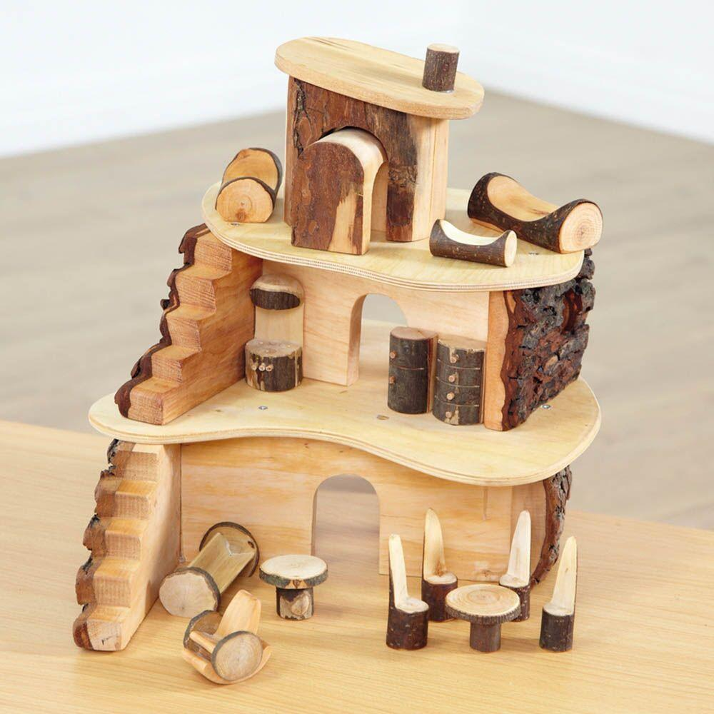 Wooden Fairy Tree House and Furniture Set
