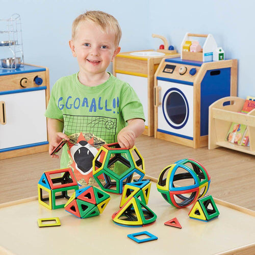Magnetic Polydron 2D 3D Shapes Maths Set 118pcs