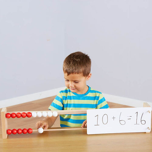 Wooden Counting Frame 0-20 Demonstration