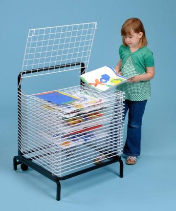 20 Shelf Spring Loaded Drying Rack