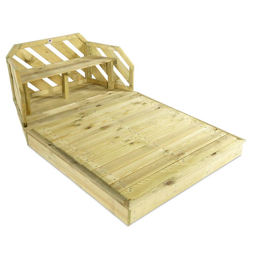 Wooden Sand Pit and Bench with lid