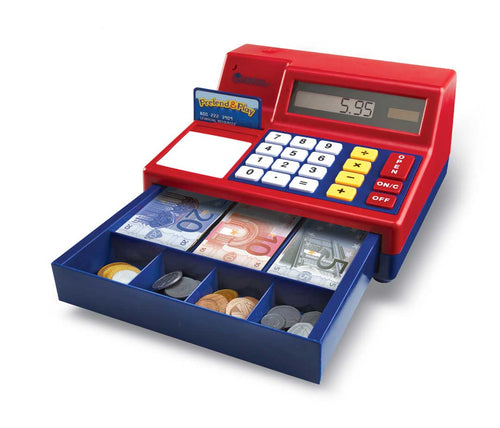 Calculater Cash Register with Euro Money