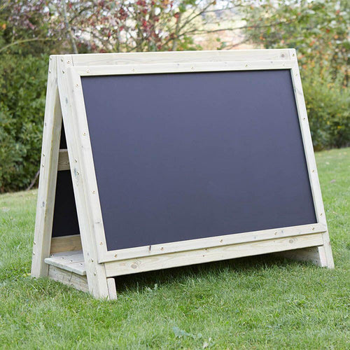 Toddlers Outdoor Chalkboard Wooden Floor Easel
