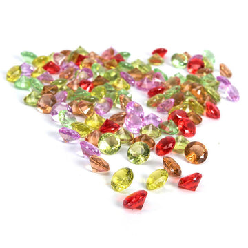 Sparkling Diamond Counters Assorted Colours 100pk
