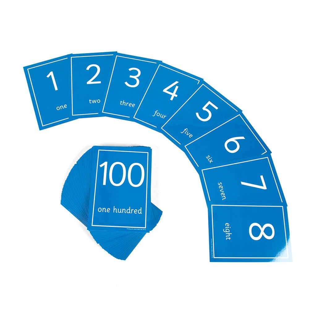 Laminated Number Cards 1-100