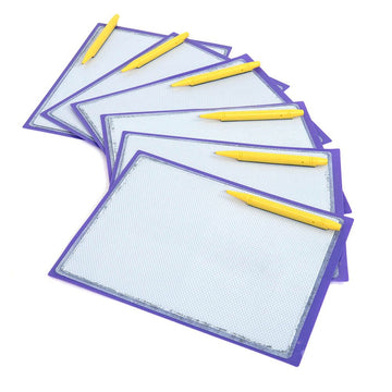 Magnetic Write and Wipe Tablet 6pk