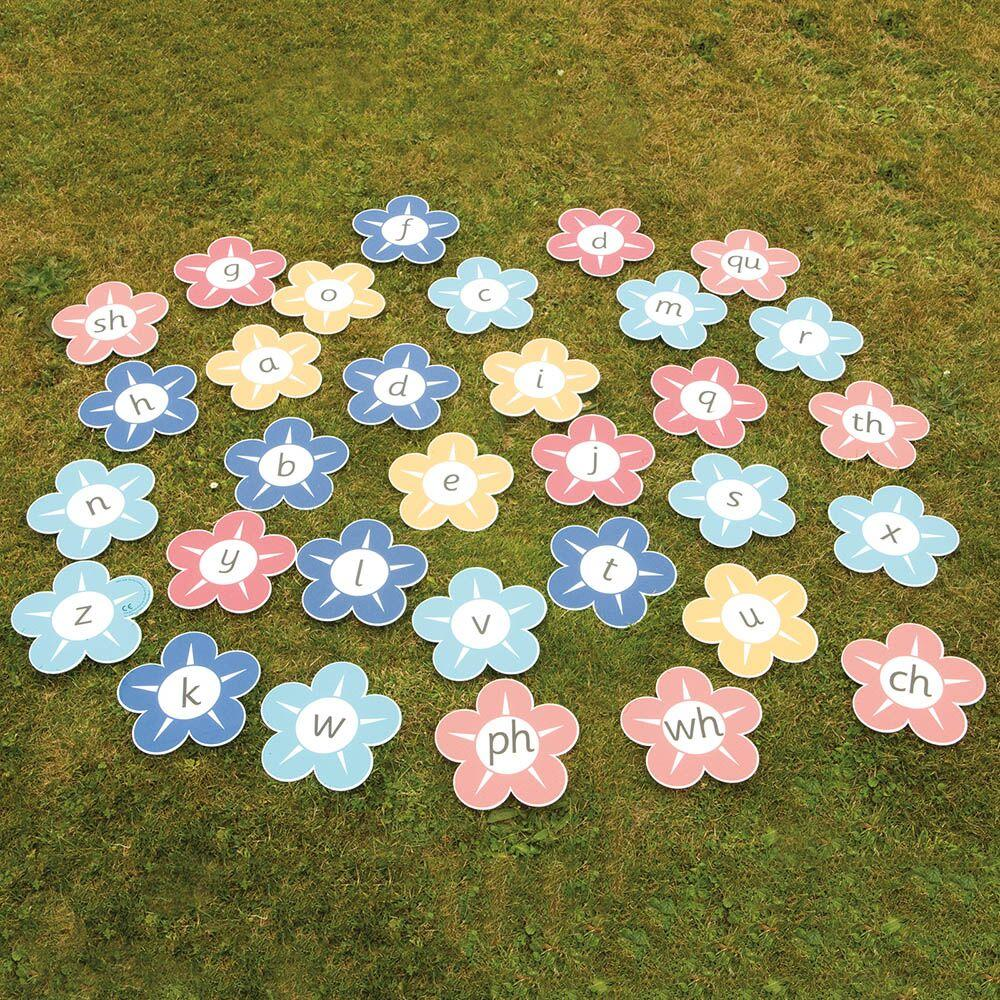 Playground Pictures - Flower Alphabet and Digraphs