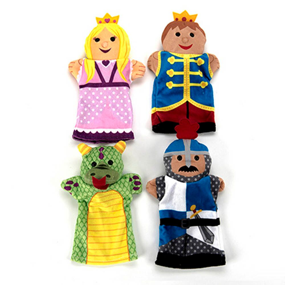 Role Play Palace People Puppet Set 4pcs