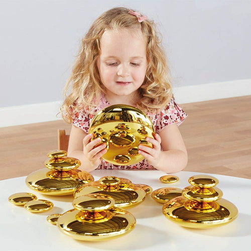 Mirrored Stacking Pebbles Gold 20pk