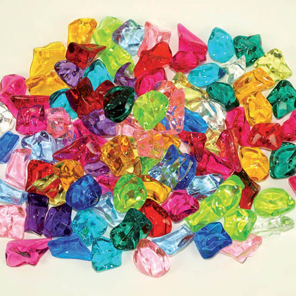Brightly Coloured Acrylic Stones 450g Bag
