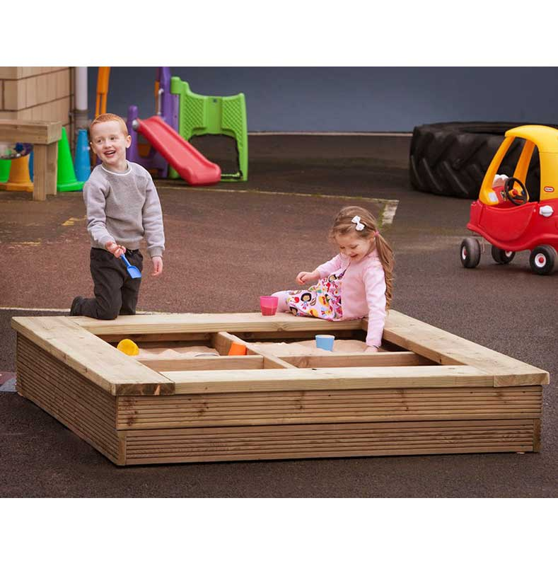 Outdoor Wooden Sand Pit / Planter