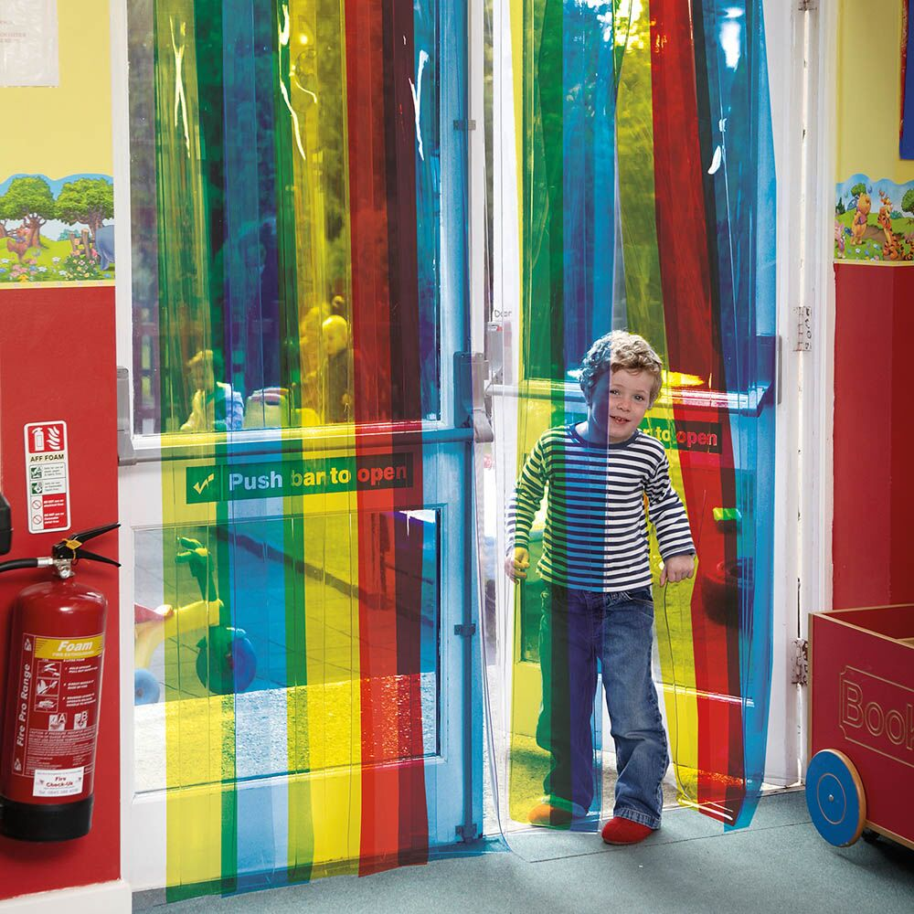 Rainbow Free Flow Curtains L220 x W98.4cm