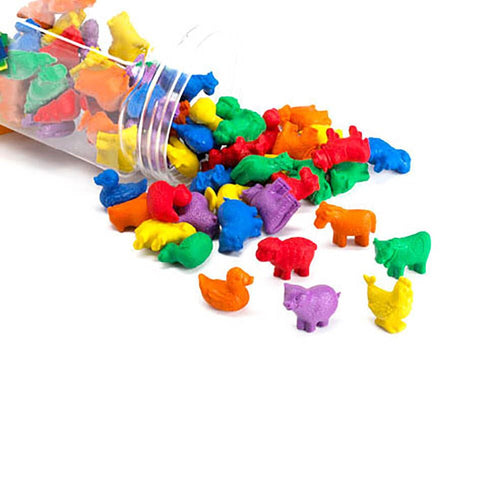 Colourful Farm Animal Counters 72pcs
