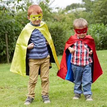 Dress up Costume Superhero Reversible Capes and Masks 4pk