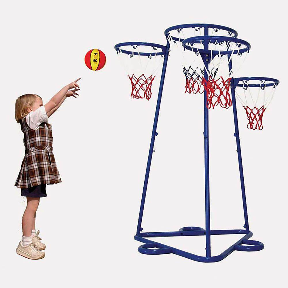 Four Hoop Basketball Playground Skill Trainer