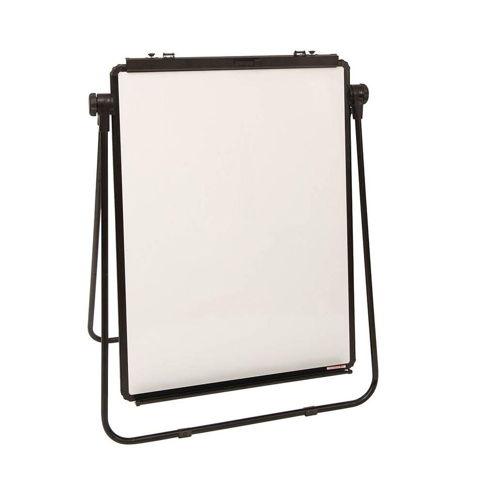 Height Adjustable Drywipe Flipchart Easel Grey