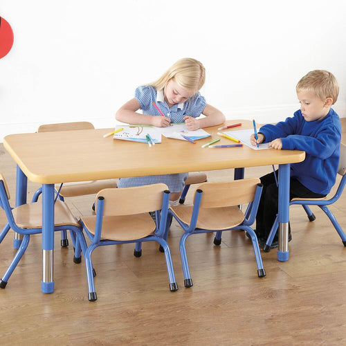 Copenhagen Rectangular Six Seater Table Blue