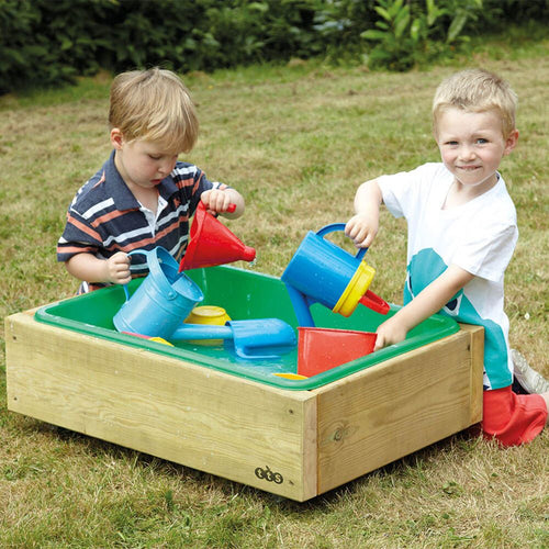 Outdoor Wooden Sand and Water Wheelie Box