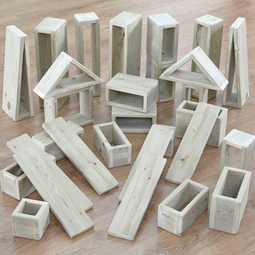 Giant Outdoor Wooden Hollow Blocks 30pk