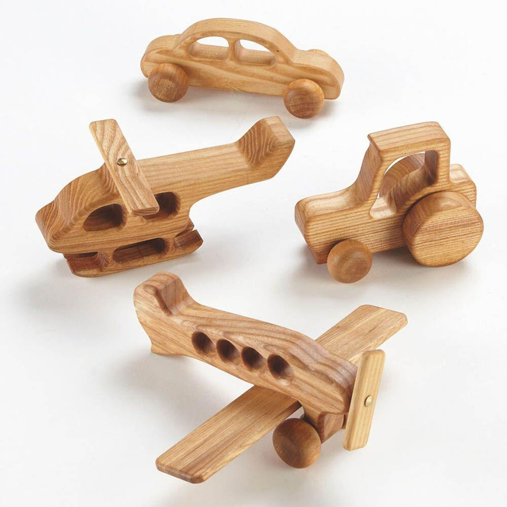 Wooden Vehicles 4pk
