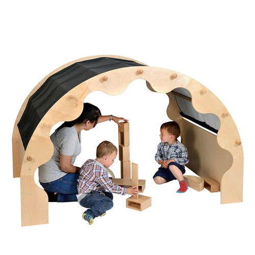 Play Pod Den Black Two Sets of Curtains