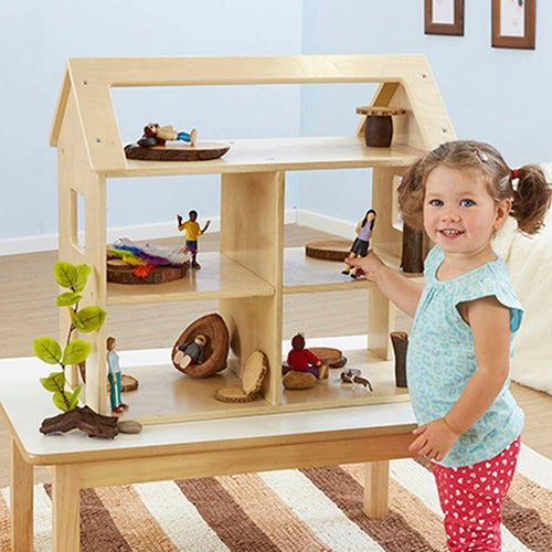 Toddler Wooden Small World Set Dolls House