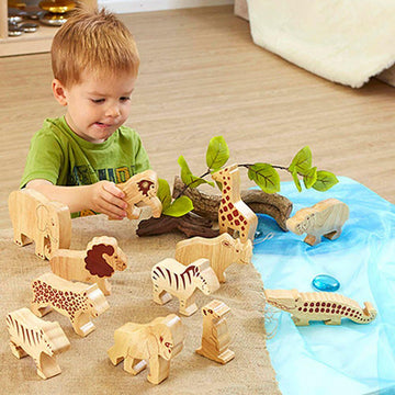 Wooden Wild Animals 12pk