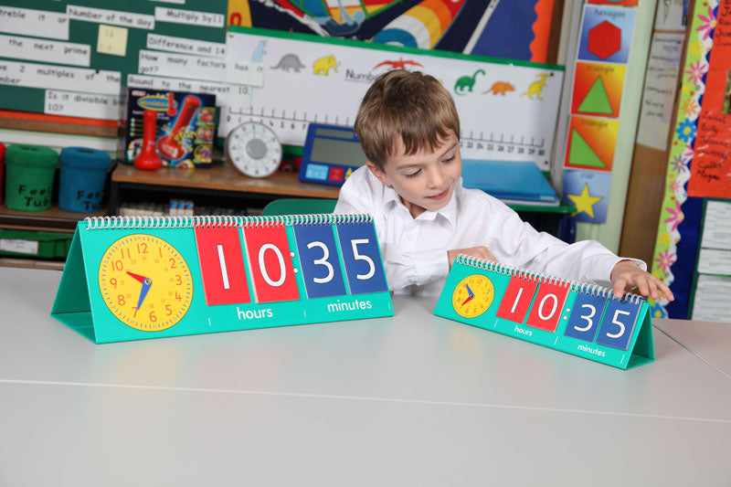 Tell Time Flip Chart - Teacher