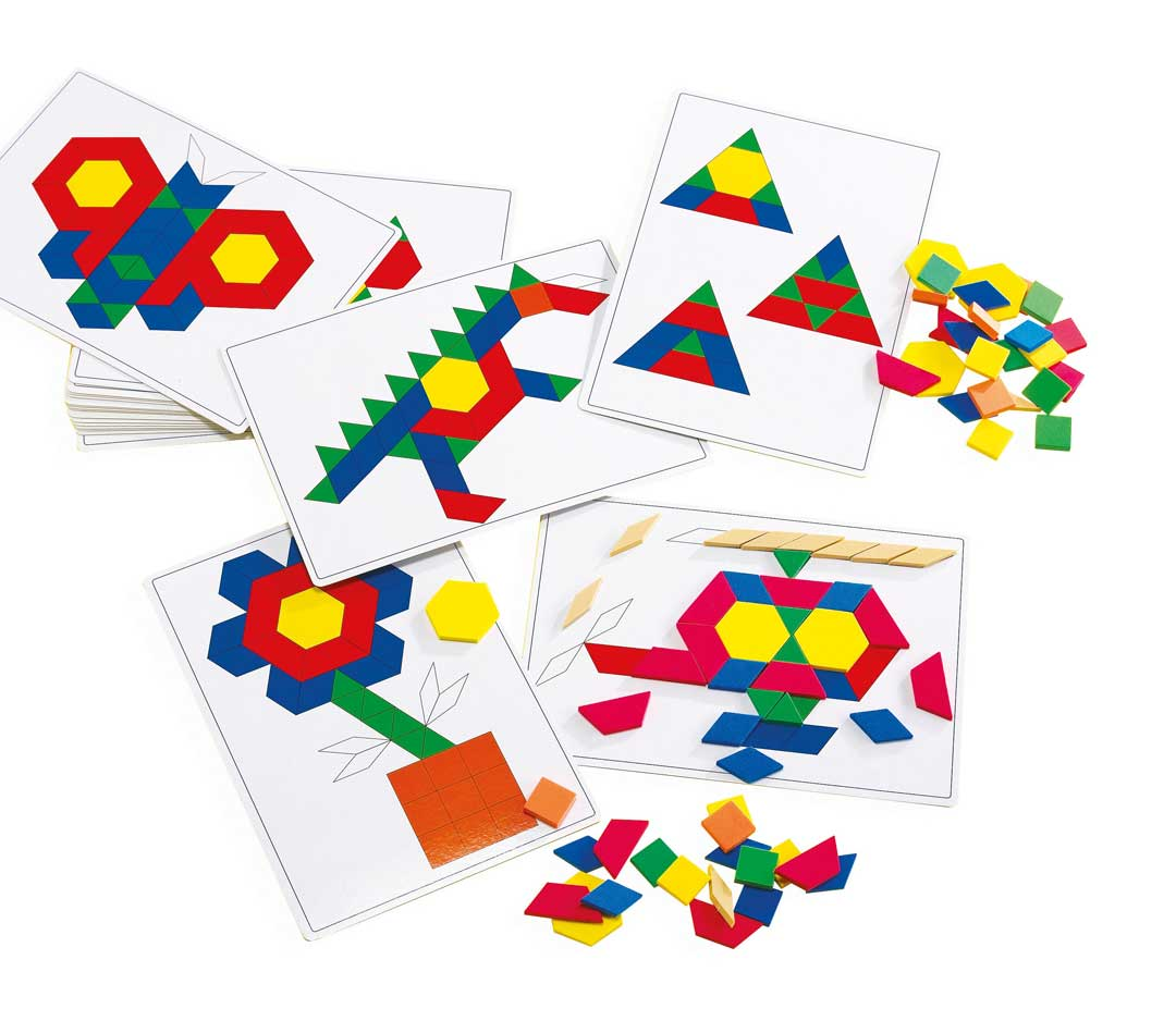 Basic Pattern Block Cards- 20pk