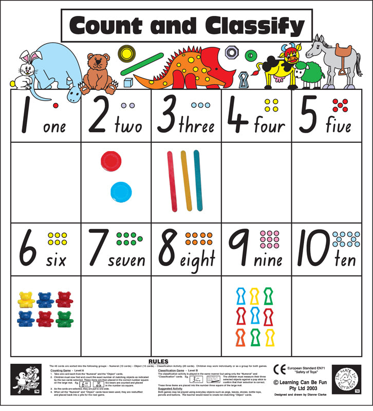 Count & Classify Mat &40 Cards