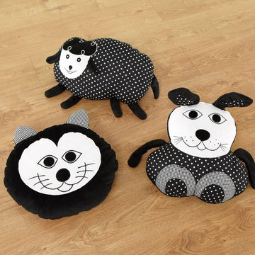 Black and White Animal Cushions Set 1