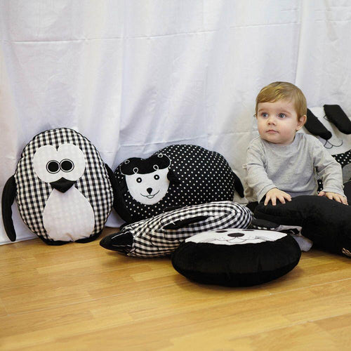 Black and White Animal Cushions Set 2