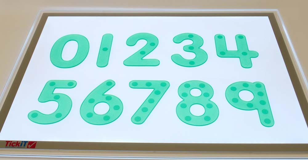SiliShapes Dot Numbers - Green Pk 10