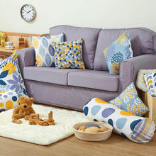 Mixed Pattern Mustard and Grey Cushion Set