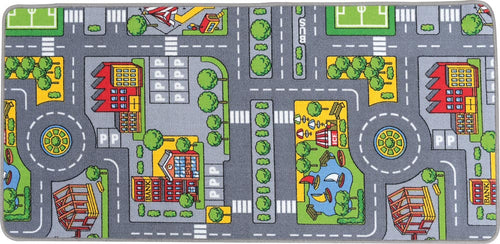City Play Mat for Play Table with Storage