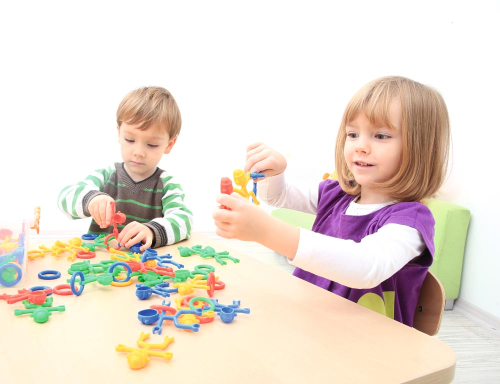 Construction blocks set - Fellows - 126 pieces