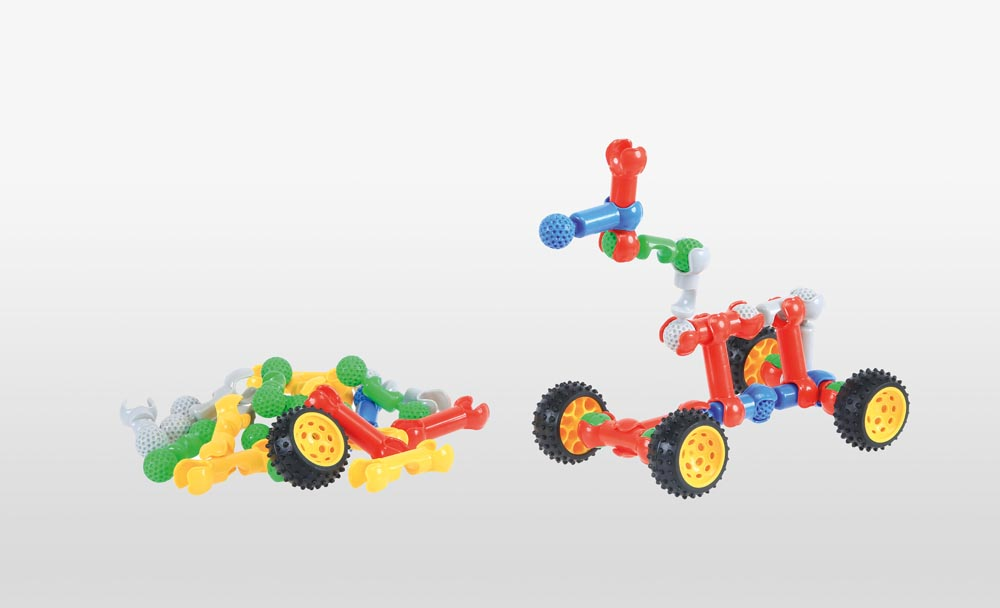 Construction Set - Bones & Wheels - 160 pieces or 320 pieces