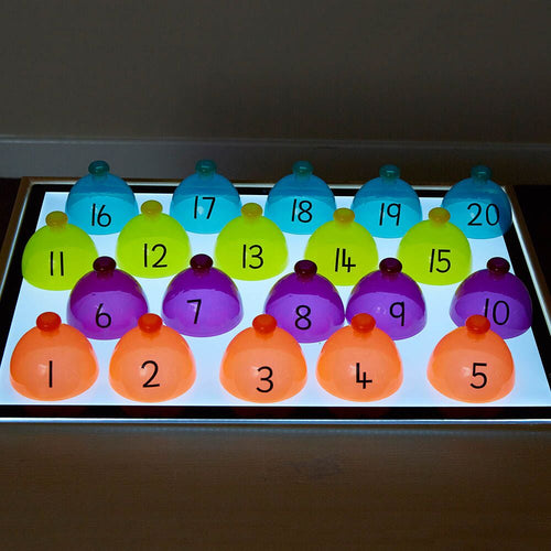 Lightbox Translucent Number Sorting Domes