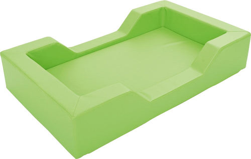 Foam bed with cut outs - lime
