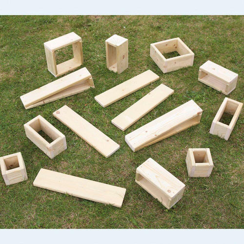 Giant Outdoor Wooden Hollow Blocks 15pk